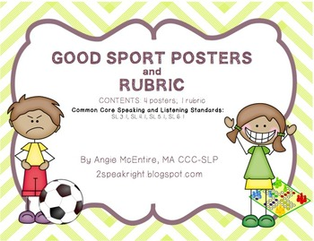 Sportsmanship Posters and Rubric
