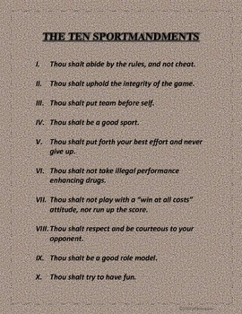 Sportsmanship Rules