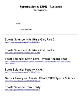 Sportsology - A look into the Science of Sports