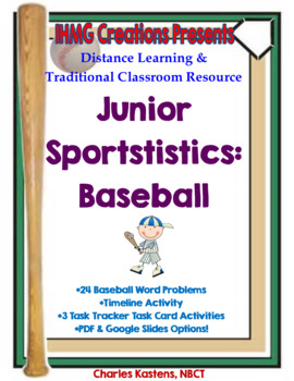 Sportstistics: Baseball-Level I--Baseball Word Problems &
