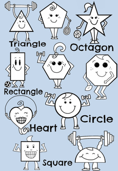 Sporty 2D Shapes Clipart - Set for Teachers