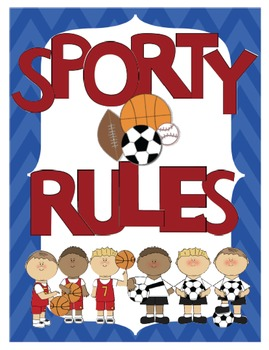 Sporty Rules Sign Print Set