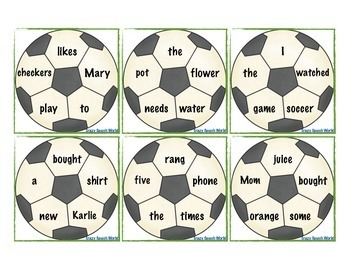 Sporty Sentences! Grammar Activities for Speech & Language Therapy