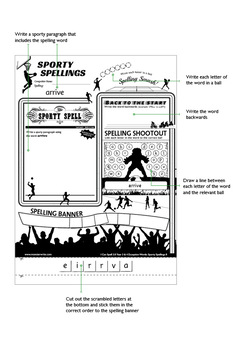 Sporty Spellings: 7-9yrs: Adding ING/EN/ER/ED to words of more than one syllable