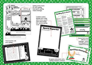 Sporty Spellings: 7-9yrs:Homophones