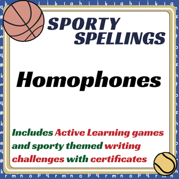 Sporty Spellings: 7-9yrs:Homophones