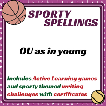 Sporty Spellings: 7-9yrs: OU as in young