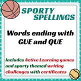 Sporty Spellings: 7-9yrs: Words ending with GUE and QUE
