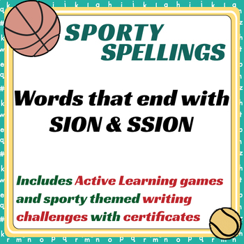 Sporty Spellings: 7-9yrs: Words that end with SION & SSION
