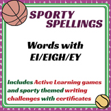 Sporty Spellings: 7-9yrs: Words with EI/EIGH/EY as in THEY