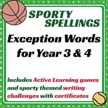 Sporty Spellings - Exception Words for Year 3 & 4 (7-9 years)