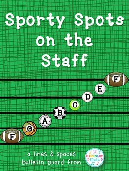 Sporty Spots on the Staff (Sports Themed Music Classroom Decor)