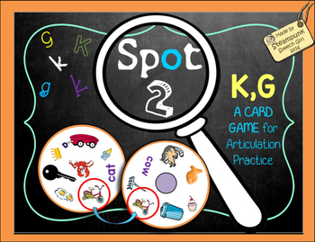 Spot 2! Fun Card Game for Articulation Groups: K/G