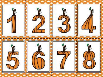 Spot A Pumpkin!  Got A Pumpkin!  Number Fluency Game