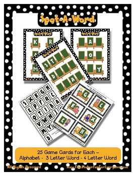Spot-A-Word Mat & Card Game - A Game that Grows with your Early Reader