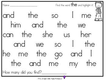Spot & Dot Sight Words