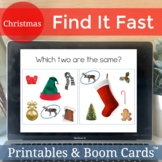 Find It Fast Christmas. Speech and Language Therapy Games (Spot It)