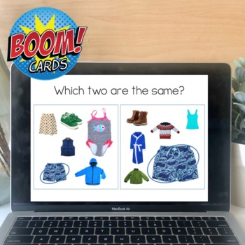 Find It Fast Clothes. Speech and Language Therapy Games (Spot It)