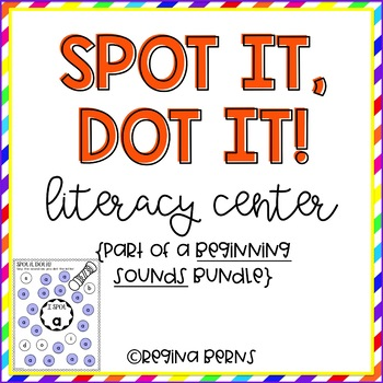 Spot It, Dot It Literacy Center {Beginning Sounds}