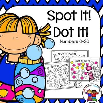 Spot It! Dot It! Numbers 0-20