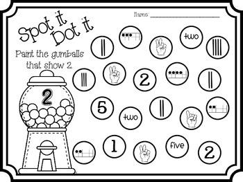 Bingo Dauber Printables (Number Sense)