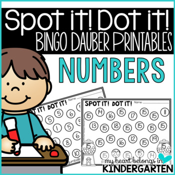 Number Recognition Pages for Math Centers