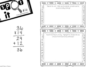 **FREEBIE** Spot It - Error Analysis of Double Digit Multiplication (36x14)