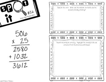 Spot It - Error Analysis of Double Digit Multiplication (506x25)