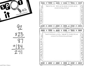 Spot It - Error Analysis of Double Digit Multiplication (92x23)