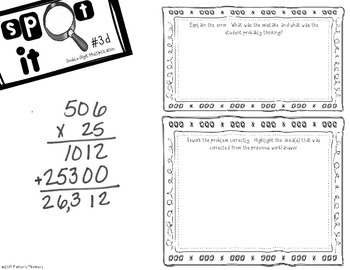 Spot It - Error Analysis of Double Digit Multiplication BUNDLE