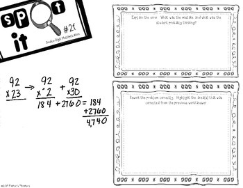 Spot It - Error Analysis of Double Digit Multiplication BUNDLE
