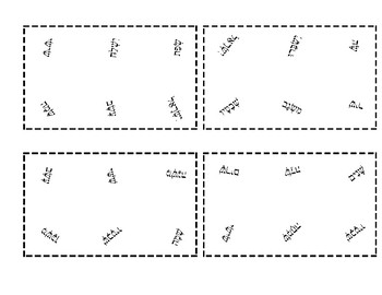 Spot It Game for Hebrew Reading (Kriah) - Shin & Sin