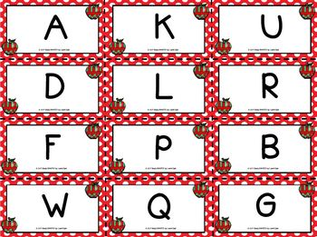 Spot It!  Got It!  Apple Themed Letter Fluency Game