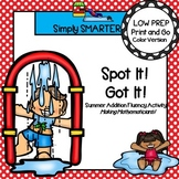 Spot It!  Got It!  Summer Themed Addition Fluency Game