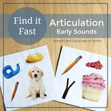 Find It Fast Early Sounds Articulation Games for Speech Therapy (Spot It)