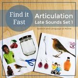 Spot It - S/Z, S blends, R, R blends, Vocalic R - Articulation Games