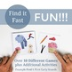 Find It Fast Late Sounds Articulation Games for Speech Therapy Set 1 (Spot It)