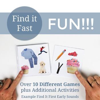 Find It Fast Late Sounds Articulation Games for Speech Therapy Set 2 (Spot It)