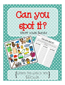 Spot It- Short Vowels