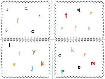 Spot It alphabet lowercase
