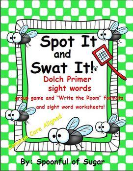 Spot It and Swat It! Sight Word Freebie