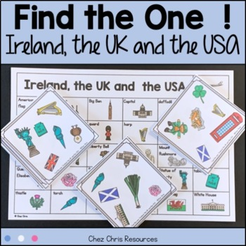 Find the one ! The USA and the UK - symbols + flashcards