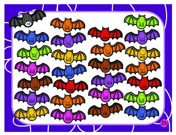 Spot Me CVC Words ~ Bat Playdough Mats