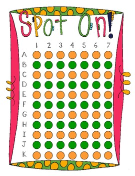 Spot On! Classroom Reward Chart