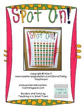 Spot On! Classroom Reward Chart