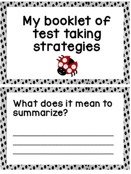 """Spot On"" Ladybug Test Taking Printables"