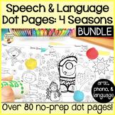 Spot-On Speech & Language: 4 Seasons; Preschool No Prep Do