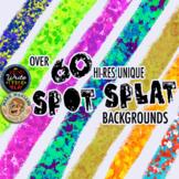 Spot Splat Digital Paper, Backgrounds, Desktop Wallpaper