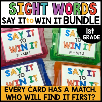 LITERACY CENTERS 1st Grade Games BUNDLE [Spot that Word]