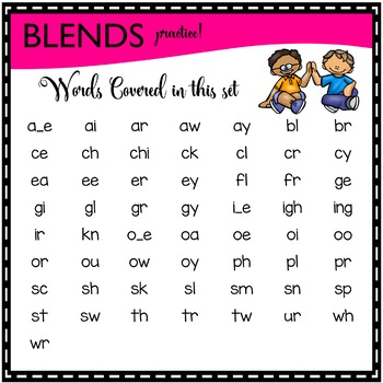 LITERACY CENTERS sounds/blends practice [SPOT THAT WORD]